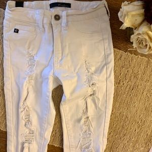 White Ripped Skinny Jeans NWOT